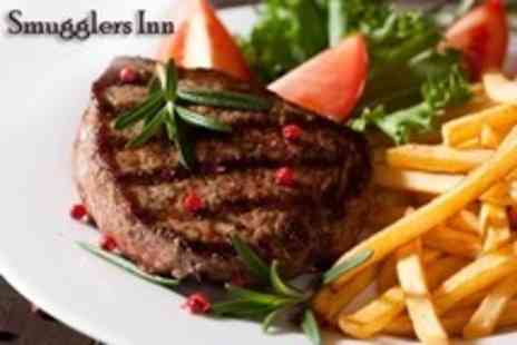The Smugglers Inn - Steak and Chips For Two With Glass of Wine - Save 50%