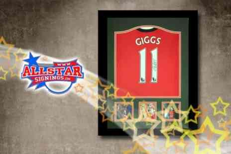 All Star Signings - Framed Manchester United Shirt Signed By Ryan Giggs - Save 68%
