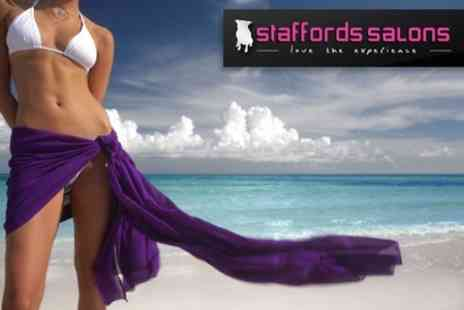 Staffords Salons - One Hours Worth of Baywatch Babes Sunbed Sessions Plus Five Applications of Pro Tan Lotion - Save 68%