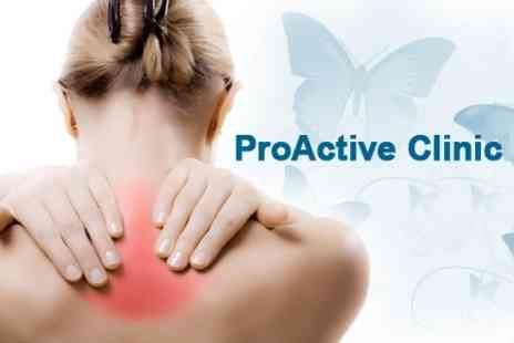 ProActive Clinic - Chiropractic Consultation with Spinal Screening and Three Follow Up Treatments - Save 77%