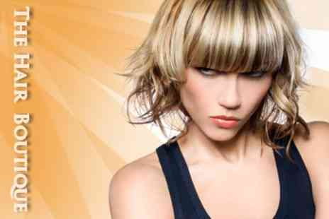 Hair Boutique - Full Head of Highlights, Lowlights or All Over Colour Plus Cut, Finish - Save 65%