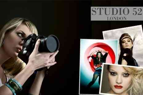 Studio 52 - Half Day Photo Shoot with Facial, Makeover and Drinks Plus Framed Prin - Save 94%