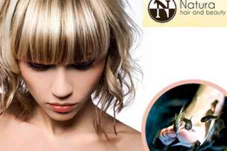 Natura Hair and Beauty - £17 for a Restyle & Blow Dry, plus 15 minute Fish Pedicure - Save 60%