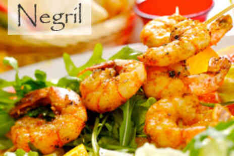 Negril - 2 courses of delicious Caribbean cuisine for two at Negril - Save 73%