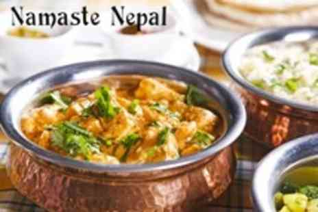 Namaste Nepal - Nepalese Cuisine Thali Meal For Two With Main, Rice, Dal and Cauliflower Dish Each - Save 56%