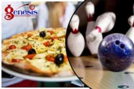 Genesis Family Entertainment Centre - Two Bowling Games With Pizza and Drinks For Two - Save 60%