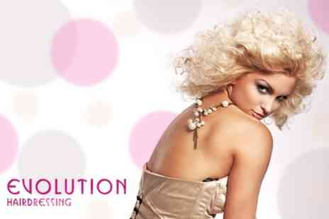 Evolution Hairdressing - T Section of Foils or Full Head Tint Plus Restyle, Conditioning Treatment - Save 60%
