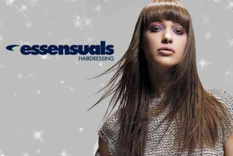 Essensuals - T Section Highlights or Full Head Colour Plus Cut and Blow Dry - Save 74%