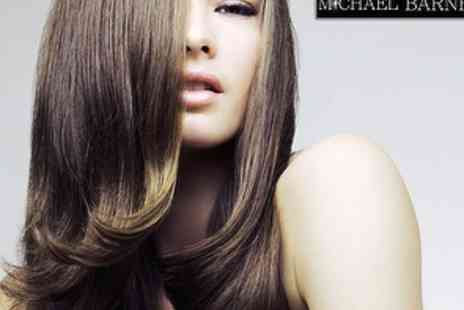 Michael Barnes Hairdressing London - Hair Cut and Finish with Moroccan Oil Treatment - Save 68%