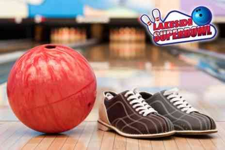 Lakeside Superbowl - One Hour of Ten Pin Bowling For up to Six - Save 55%