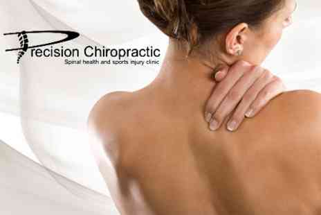 Precision Chiropractic - Chiropractic Consultation With Three Treatment Sessions Plus Exercise Video Session - Save 82%
