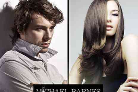 Michael Barnes Hairdressing - £50 Cut & Finish plus Permanent Hair Repair Treatment & Glass of Wine - Save 67%