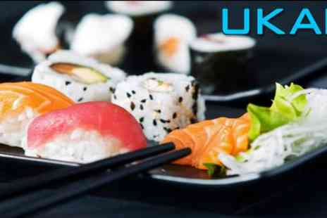 Ukai - two delicious cocktails and a sushi platter for two to share - Save 60%