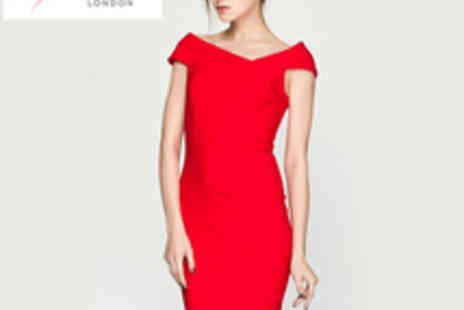 Lipsy - Red Off The Shoulder Body Con Dress - Save 58%