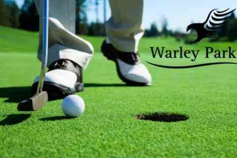 Warley Park Golf Club - 18 Holes of Golf, Bucket of Balls For The Driving Range and All Day Breakfast For Two - Save 63%