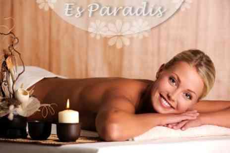 Es Paradis Beauty - Pamper Package With Sea Salt Scrub, Massage, and Mani Pedi - Save 72%