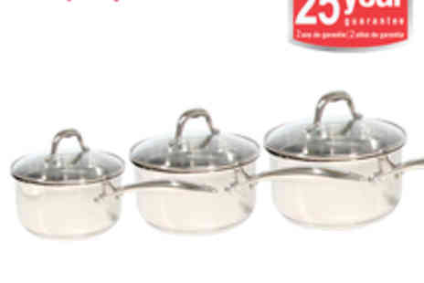 Morphy Richards - Morphy Richards Professional 3pc Pro Pour Pan Set - Save 53%