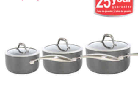 Morphy Richards - Morphy Richards Professional 3pc Graphite Pan Set - Save 55%