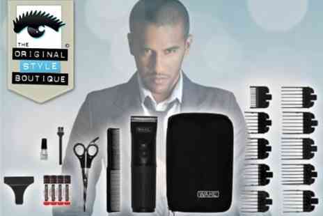 Original Style Boutique - Wahl Battery Powered Hair Clipper With Accessories and Carry Pouch - Save 69%