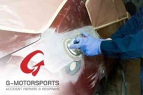 G Motorsports - Car Panel Scratch and Dent Repair With Respray - Save 78%