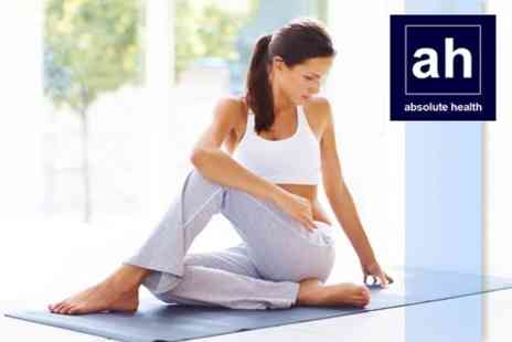 Absolute Health - Six Week Course of Yoga or Thighs, Bums and Tums - Save 89%