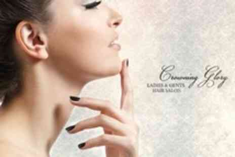 Crowning Glory Hair and Nail Salon - Shellac Nails With Follow Up Removal - Save 60%
