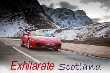 Exhilarate Scotland - Supercar Driving Experience in Scottish Highlands in Four Cars - Save 66%