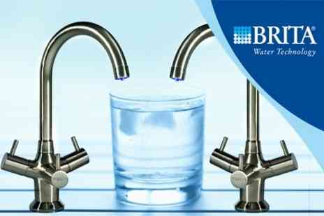BRITA Water Filter Systems - BRITA Brushed Titanium Tap With Four Extra Filters - Save 50%