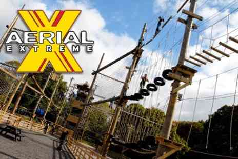 Aerial Extreme - Entryto the High Ropes Course for £11 at Aerial Extreme Milton Keynes (Value up to £25) - Save 56%