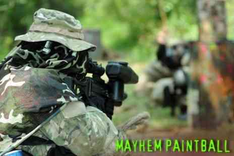 Mayhem Paintball - Half Day Paintball Experience for Four - Save 62%