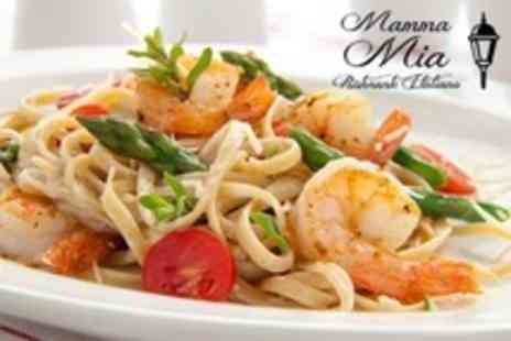 Mamma Mia - Two Course Italian Meal Such as Caprese and Langoustine Spaghetti For Two - Save 55%