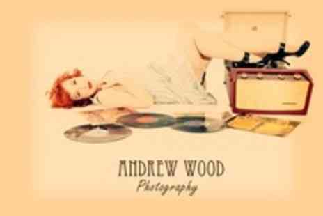 Andrew Wood Photography - Makeover or Boudoir Photoshoot With A4 Framed Print and Two Mounted Satin Prints - Save 80%