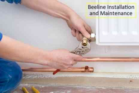 Beeline Installation and Maintenance - Central Heating Power Flush For Eight Radiators - Save 72%