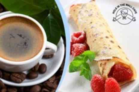 Hole in the Wall Cafe - Pancakes With Drinks For Two - Save 50%