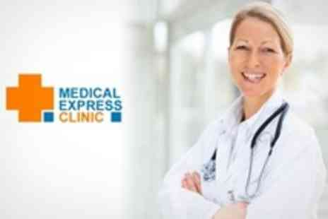 Medical Express Clinic - Comprehensive Head to Toe Medical Assessment With GP Consultation, Blood Profile and ECG - Save 73%