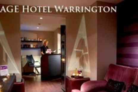 Village Hotel Warrington - Overnight Stay For Two Plus Three Course Evening Meal and Wine - Save 59%