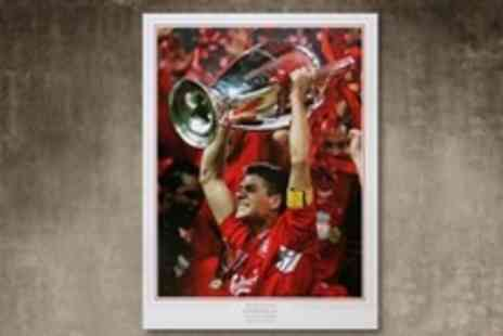 A1 Sporting Memorabilia - Limited Edition Autographed Steven Gerrard Picture With Option of a Frame - Save 62%