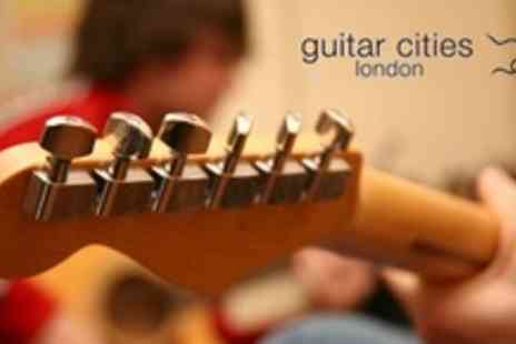 Guitar Cities - Six  One On One Guitar Lessons - Save 60%