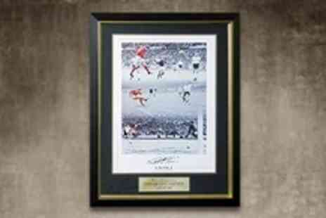 A1 Sporting Memorabilia - Signed and Framed Photo Montage of Sir Geoff Hursts 1966 World Cup Winning Hat Trick - Save 60%