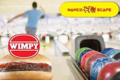 Namco Station Luton - Bowling: Two Games For Four People With Burgers and Tokens for £9.95 - Save 80%