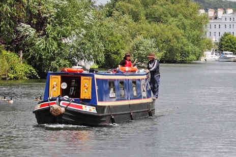 Flower Cruises - Two course meal for 2 people including 2hr tour on board Flower Cruises narrowboat - Save 62%
