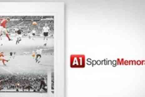 A1 Sporting Memorabilia - Signed Photo Montage of Sir Geoff Hursts 1966 World Cup Winning Hat Trick - Save 60%