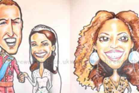 Caricature Workshop - Unique Caricature Drawing in Black and White or Colour - Save 77%