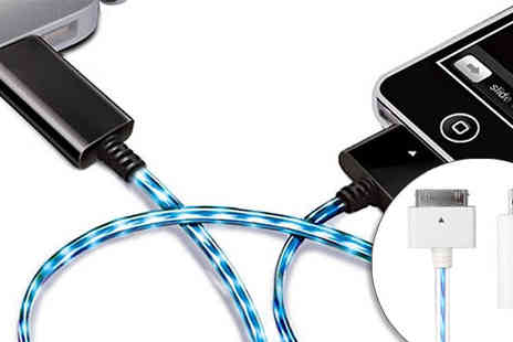 Clearly contemporary - The colourful side of life with the LED iPhone Cable - Save 73%