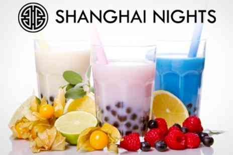 Shanghai Nights - Two Bubble Teas Plus Topping - Save 49%