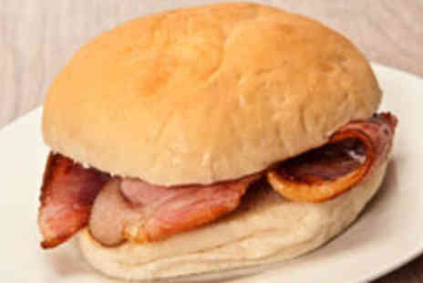 The Hole In the Wall Cafe - £3.50 for a Bacon or Sausage Breakfast Butty and a Brew for Two - Save 63%