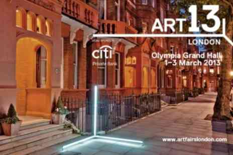 Art13 London - New Global Art Fair Tickets For Two - Save 58%
