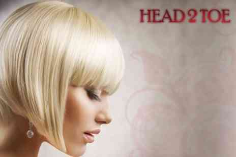 Head 2 Toe - Highlights or Colour With Cut, Condition and Finish - Save 65%