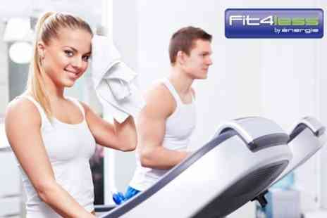 Fit4Less Redditch - 12 Gym Passes For One - Save 50%
