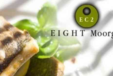 Eight Club Moorgate - Contemporary European Cuisine For Two With Champagne - Save 59%